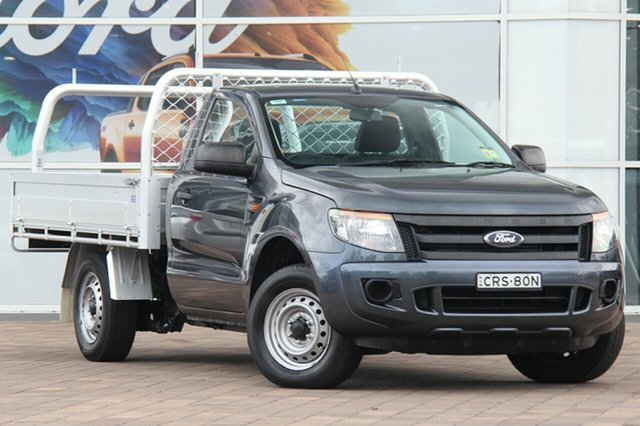 Used Ford Ranger PX XL 4x2, 2014 Ford Ranger PX XL 4x2 Grey 6 Speed Manual Cab Chassis
