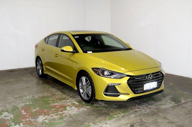 Used Hyundai Elantra AD MY17 SR Turbo, 2017 Hyundai Elantra AD MY17 SR Turbo Blazing Yellow 6 Speed Manual Sedan
