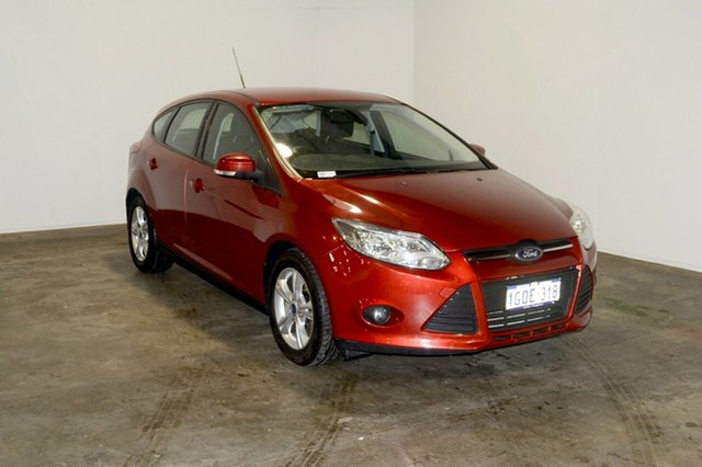 Used Ford Focus LW Trend PwrShift, 2012 Ford Focus LW Trend PwrShift Red Candy 6 Speed Sports Automatic Dual Clutch Hatchback