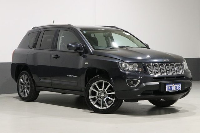 Used Jeep Compass MK MY14 Limited (4x4), 2014 Jeep Compass MK MY14 Limited (4x4) Grey 6 Speed Automatic Wagon