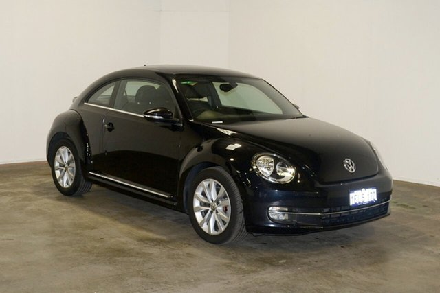 Used Volkswagen Beetle 1L MY13 Coupe DSG, 2013 Volkswagen Beetle 1L MY13 Coupe DSG Deep Black Pearl Effect 7 Speed