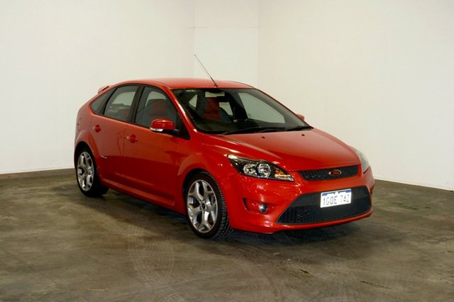 Used Ford Focus LV XR5 Turbo, 2010 Ford Focus LV XR5 Turbo Red 6 Speed Manual Hatchback