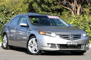 2008 Honda Accord Euro CU Luxury Buran Silver 5 Speed Automatic Sedan.