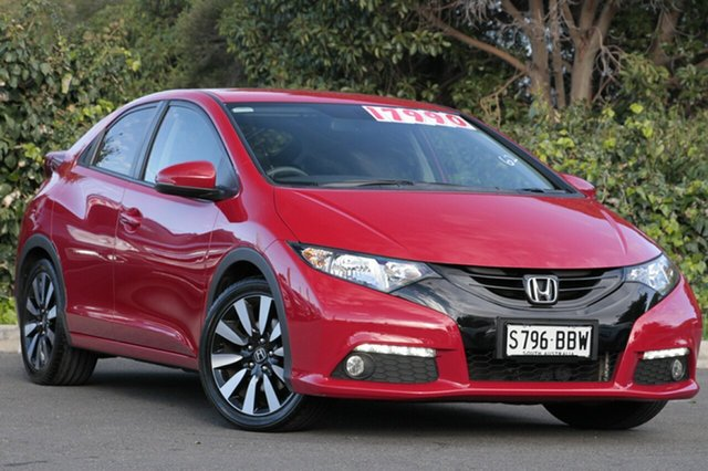 Used Honda Civic 9th Gen MY14 VTi-L, 2014 Honda Civic 9th Gen MY14 VTi-L Milano Red 5 Speed Sports Automatic Hatchback