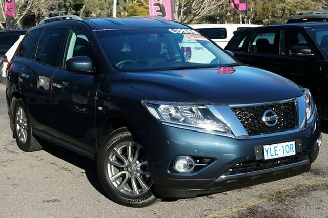 Used Nissan Pathfinder R52 MY15 ST X-tronic 2WD, 2016 Nissan Pathfinder R52 MY15 ST X-tronic 2WD Galaxy Blue 1 Speed Constant Variable Wagon