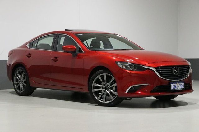 Used Mazda 6 6C MY15 Atenza, 2016 Mazda 6 6C MY15 Atenza Soul Red 6 Speed Automatic Sedan