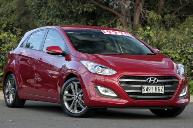 Used Hyundai i30 GD3 Series II MY16 SR, 2015 Hyundai i30 GD3 Series II MY16 SR Brilliant Red 6 Speed Sports Automatic Hatchback