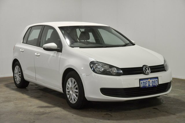 Used Volkswagen Golf VI MY10 77TDI Trendline, 2010 Volkswagen Golf VI MY10 77TDI Trendline Candy White 5 Speed Manual Hatchback