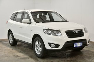 2010 Hyundai Santa Fe CM MY10 SLX Vanilla White 6 Speed Sports Automatic Wagon.