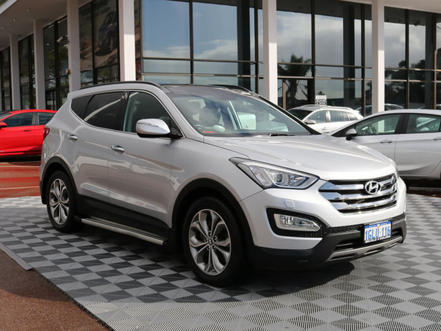 Used Hyundai Santa Fe DM MY14 Highlander, 2013 Hyundai Santa Fe DM MY14 Highlander Silver 6 Speed Sports Automatic Wagon