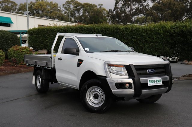 Used Ford Ranger PX XL, 2014 Ford Ranger PX XL White 6 Speed Manual Cab Chassis