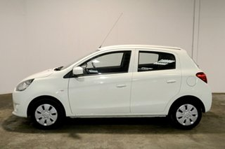 2014 Mitsubishi Mirage LA MY14 ES White 1 Speed Constant Variable Hatchback.
