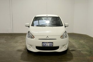 2014 Mitsubishi Mirage LA MY14 ES White 1 Speed Constant Variable Hatchback