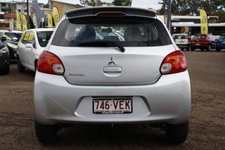 2014 Mitsubishi Mirage LA MY14 ES Silver 5 Speed Manual Hatchback