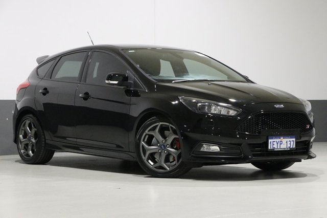 Used Ford Focus LZ ST2, 2016 Ford Focus LZ ST2 Black 6 Speed Manual Hatchback
