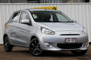 2014 Mitsubishi Mirage LA MY14 ES Silver 5 Speed Manual Hatchback.