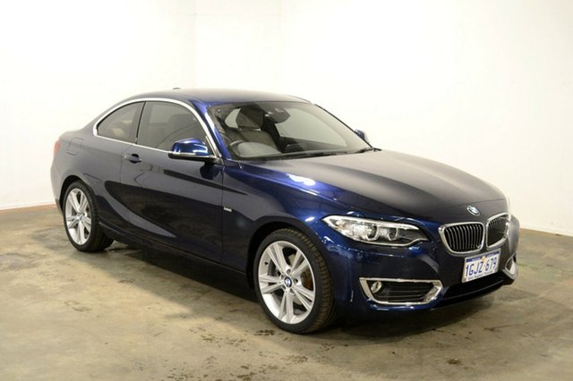 Used BMW 220i F22 LCI Luxury Line, 2017 BMW 220i F22 LCI Luxury Line Blue 8 Speed Sports Automatic Coupe