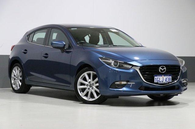 Used Mazda 3 BN MY17 SP25 GT, 2017 Mazda 3 BN MY17 SP25 GT Eternal Blue 6 Speed Automatic Hatchback