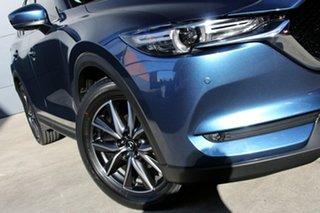 2018 Mazda CX-5 KF4WLA GT SKYACTIV-Drive i-ACTIV AWD Eternal Blue 6 Speed Sports Automatic Wagon.