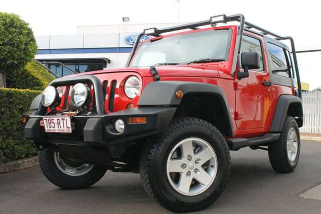 Used Jeep Wrangler JK MY2010 Sport, 2010 Jeep Wrangler JK MY2010 Sport Red 6 Speed Manual Softtop
