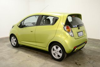 2010 Holden Barina Spark MJ MY11 CDX Green 5 Speed Manual Hatchback.