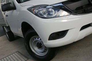 2017 Mazda BT-50 UR0YE1 XT 4x2 Hi-Rider White 6 Speed Sports Automatic Cab Chassis.