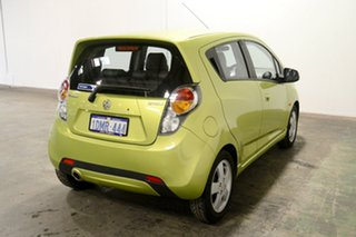 2010 Holden Barina Spark MJ MY11 CDX Green 5 Speed Manual Hatchback