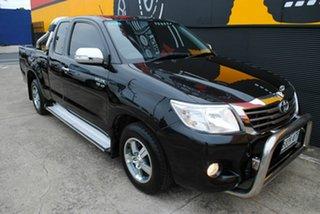 2013 Toyota Hilux GGN15R MY12 SR5 Xtra Cab 4x2 Brilliantblack 5 Speed Automatic Utility.