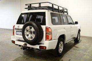 2010 Nissan Patrol GU 7 MY10 ST White 4 Speed Automatic Wagon