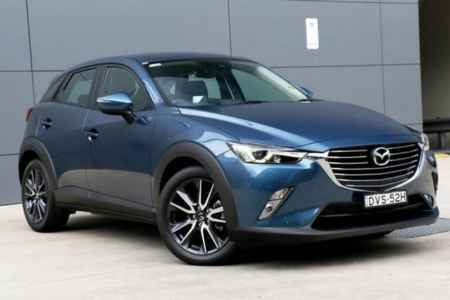 Demo Mazda CX-3 DK2W7A sTouring SKYACTIV-Drive, 2018 Mazda CX-3 DK2W7A sTouring SKYACTIV-Drive Eternal Blue 6 Speed Sports Automatic Wagon