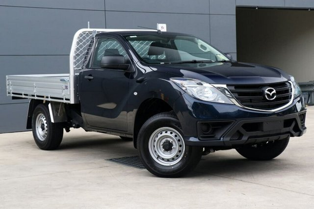 New Mazda BT-50 UR0YE1 XT 4x2 Hi-Rider, 2018 Mazda BT-50 UR0YE1 XT 4x2 Hi-Rider Deep Crystal Blue 6 Speed Sports Automatic Cab Chassis
