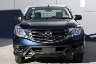 2018 Mazda BT-50 UR0YE1 XT 4x2 Deep Crystal Blue 6 Speed Manual Cab Chassis.