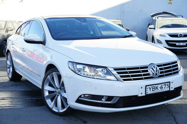 Used Volkswagen CC Type 3CC MY14 130TDI DSG, 2013 Volkswagen CC Type 3CC MY14 130TDI DSG White 6 Speed Sports Automatic Dual Clutch Coupe