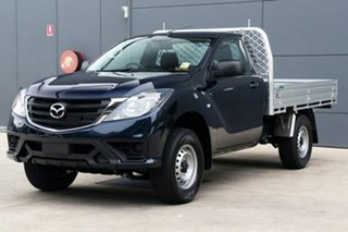 2018 Mazda BT-50 UR0YE1 XT 4x2 Hi-Rider Deep Crystal Blue 6 Speed Sports Automatic Cab Chassis