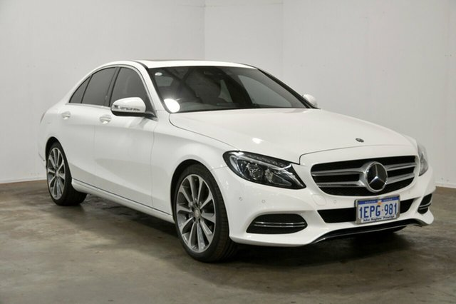 Used Mercedes-Benz C250 W205 7G-Tronic +, 2014 Mercedes-Benz C250 W205 7G-Tronic + White 7 Speed Sports Automatic Sedan
