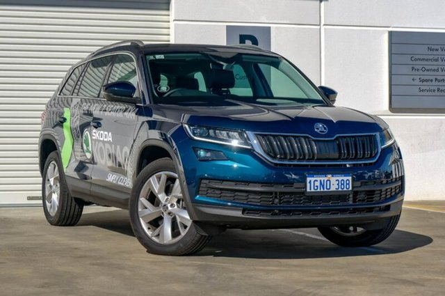Demo Skoda Kodiaq NS MY18 140TDI DSG, 2017 Skoda Kodiaq NS MY18 140TDI DSG Blue 7 Speed Sports Automatic Dual Clutch Wagon
