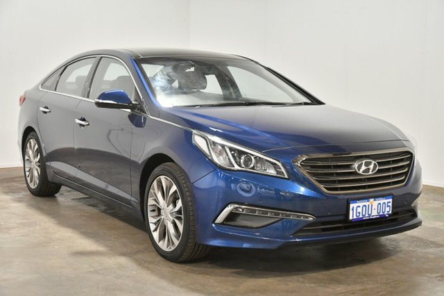Used Hyundai Sonata LF Premium, 2015 Hyundai Sonata LF Premium Coast Blue 6 Speed Sports Automatic Sedan