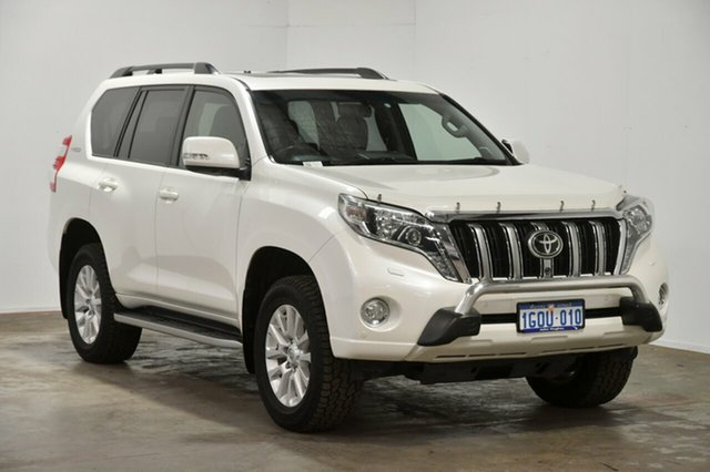 Used Toyota Landcruiser Prado KDJ150R MY14 Kakadu, 2013 Toyota Landcruiser Prado KDJ150R MY14 Kakadu White 5 Speed Sports Automatic Wagon