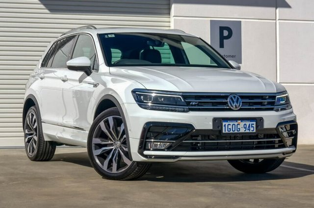 Demo Volkswagen Tiguan 5N MY18 140TDI DSG 4MOTION Highline, 2018 Volkswagen Tiguan 5N MY18 140TDI DSG 4MOTION Highline Pure White 7 Speed