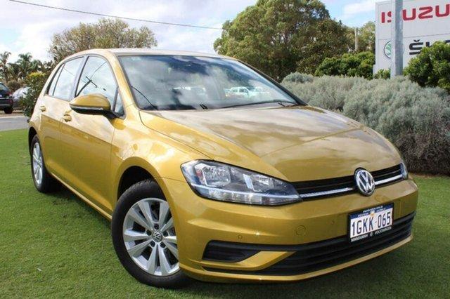 Demo Volkswagen Golf 7.5 MY17 110TSI DSG Trendline, 2017 Volkswagen Golf 7.5 MY17 110TSI DSG Trendline Turmeric Yellow 7 Speed
