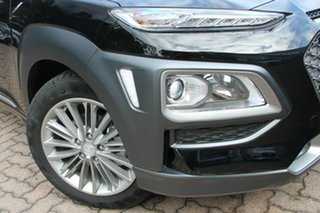 2017 Hyundai Kona OS MY18 Elite D-CT AWD Phantom Black 7 Speed Sports Automatic Dual Clutch Wagon.