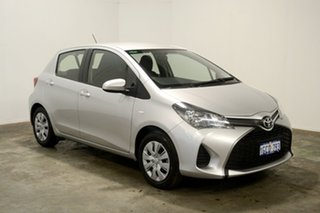 2016 Toyota Yaris NCP130R Ascent Silver 4 Speed Automatic Hatchback.