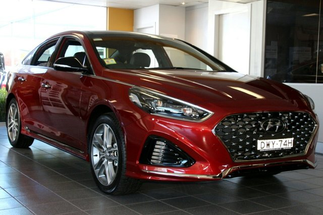 Demo Hyundai Sonata LF4 MY18 Premium, 2018 Hyundai Sonata LF4 MY18 Premium Valentine Red 8 Speed Automatic Sedan