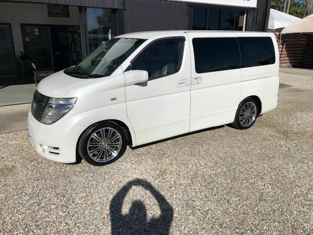 Used Nissan Elgrand E51 Highway Star, 2004 Nissan Elgrand E51 Highway Star White 5 Speed Automatic Wagon