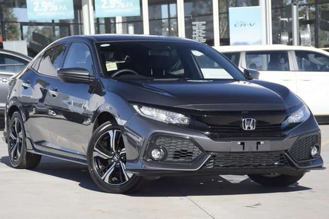 New Honda Civic 10th Gen MY18 RS, 2019 Honda Civic 10th Gen MY18 RS Modern Steel 1 Speed Constant Variable Hatchback