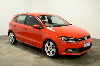 2012 Volkswagen Polo 6R MY12.5 GTI DSG Red 7 Speed Sports Automatic Dual Clutch Hatchback.