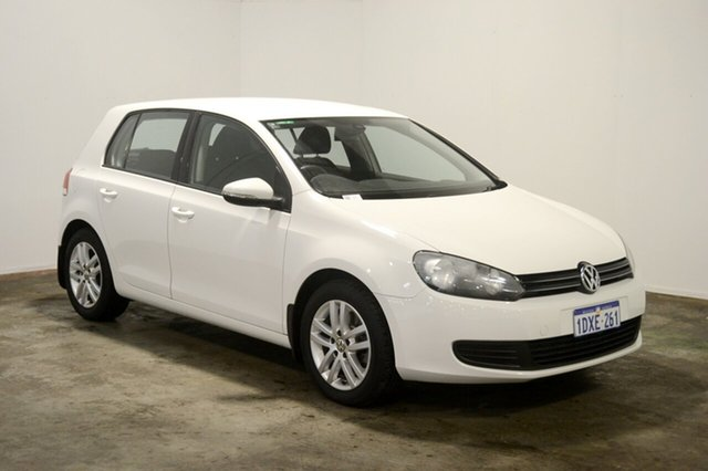 Used Volkswagen Golf VI MY12.5 118TSI DSG Comfortline, 2012 Volkswagen Golf VI MY12.5 118TSI DSG Comfortline Candy White 7 Speed