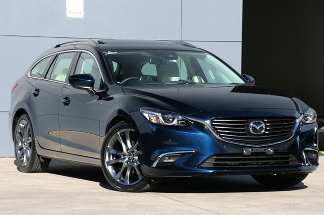 Used Mazda 6 GL1031 GT SKYACTIV-Drive, 2017 Mazda 6 GL1031 GT SKYACTIV-Drive Deep Crystal Blue 6 Speed Sports Automatic Wagon