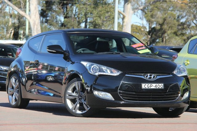 Used Hyundai Veloster FS + Coupe, 2012 Hyundai Veloster FS + Coupe Phantom Black Pearl 6 Speed Manual Hatchback