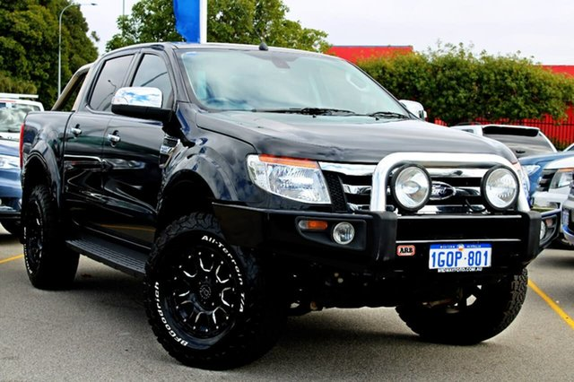 Used Ford Ranger PX XLT Double Cab, 2013 Ford Ranger PX XLT Double Cab Black 6 Speed Sports Automatic Utility